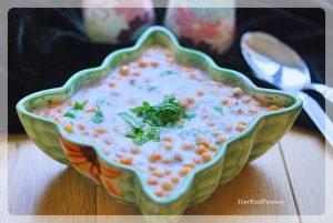 Boondi Raita - Quick & Easy Yoghurt Dip Recipe   YourFoodFantasy.com