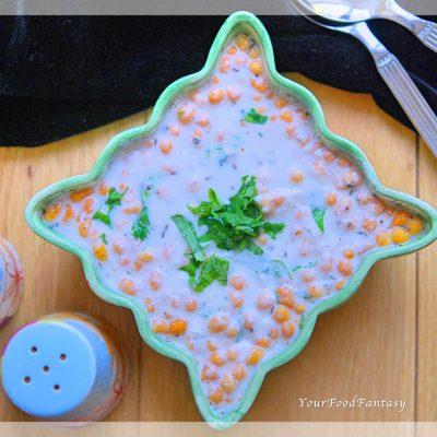 Boondi Raita - Quick and Easy Yoghurt Dip Recipe | YourFoodFantasy.com
