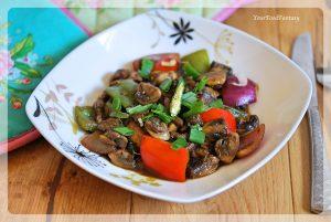 Chilli Mushroom Recipe | Mushroom Recipe | YourFoodFantasy.com