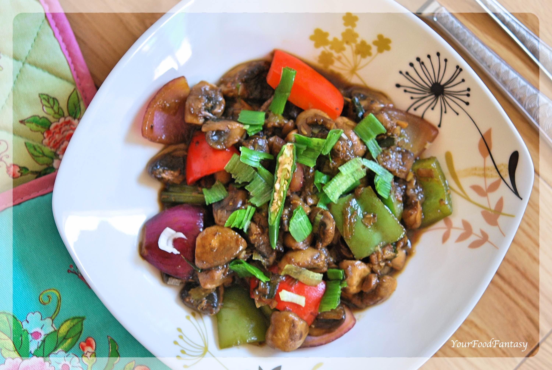 Chilli Mushroom Recipe | Your Food Fantasy