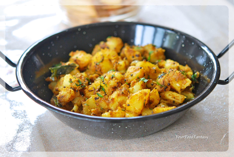 Dry Potato Curry | Bombay Aloo | Bombay Potatoes | Sookhi Aloo Sabzi Recipe