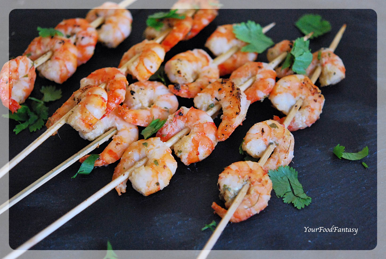 Garlic Chilli Prawn Skewers Recipe   Your Food Fantasy