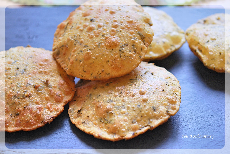 Methi Puri - Puri with Fenugreek Leaves | Your Food Fantasy by Meenu Gupta