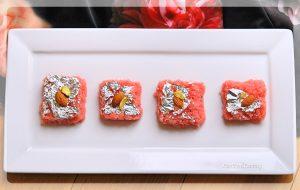 Rose Coconut Burfi Recipe   Your Food Fantasy