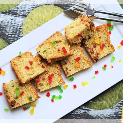Tutti Frutti Cake   Cake Recipe   Your Food Fantasy