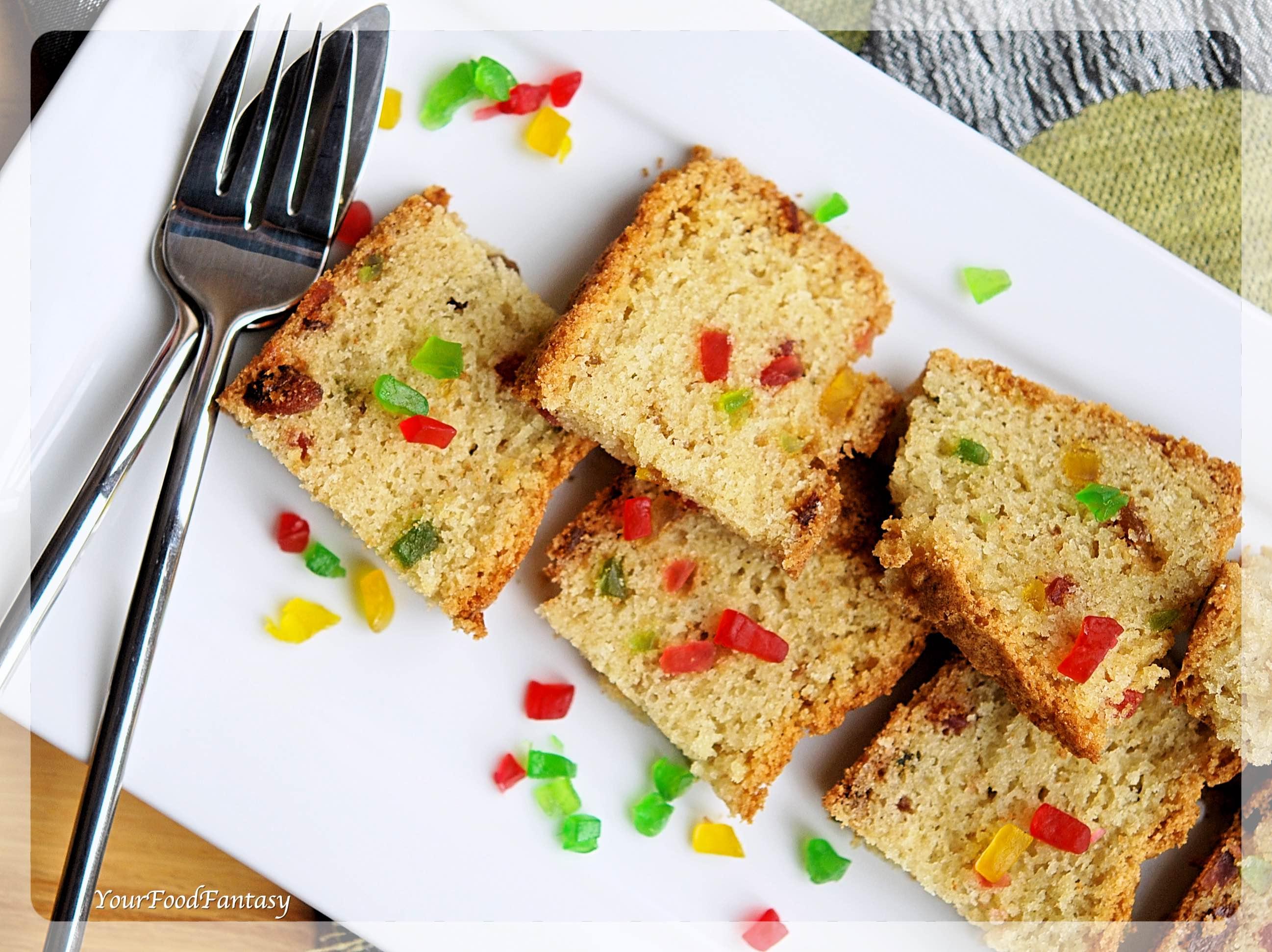 Tutti Frutti Cake Recipe   YourFoodFantasy.com by Meenu Gupta