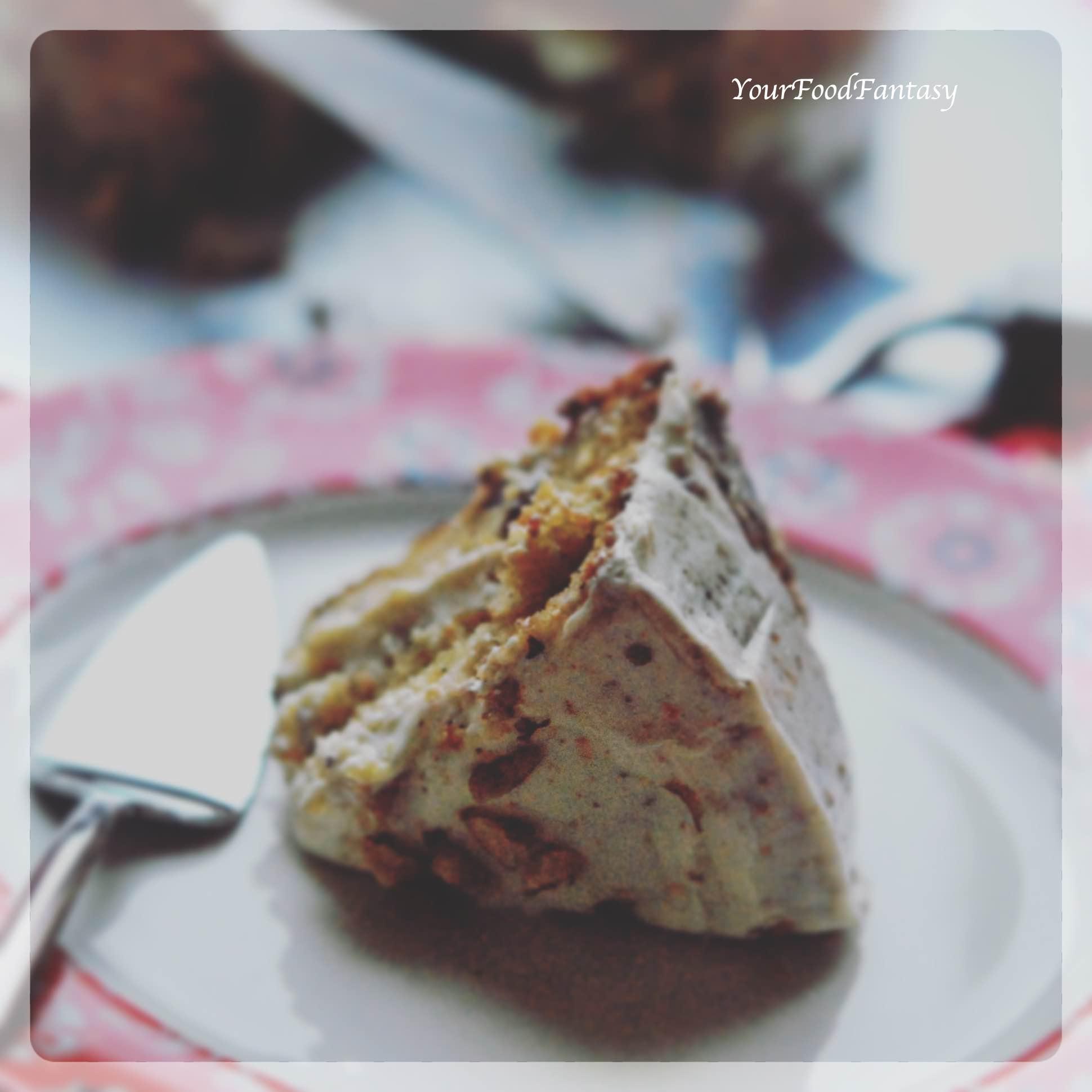 Walnut Carrot Cake Recipe - Easy Cake Recipes | Your Food Fantasy