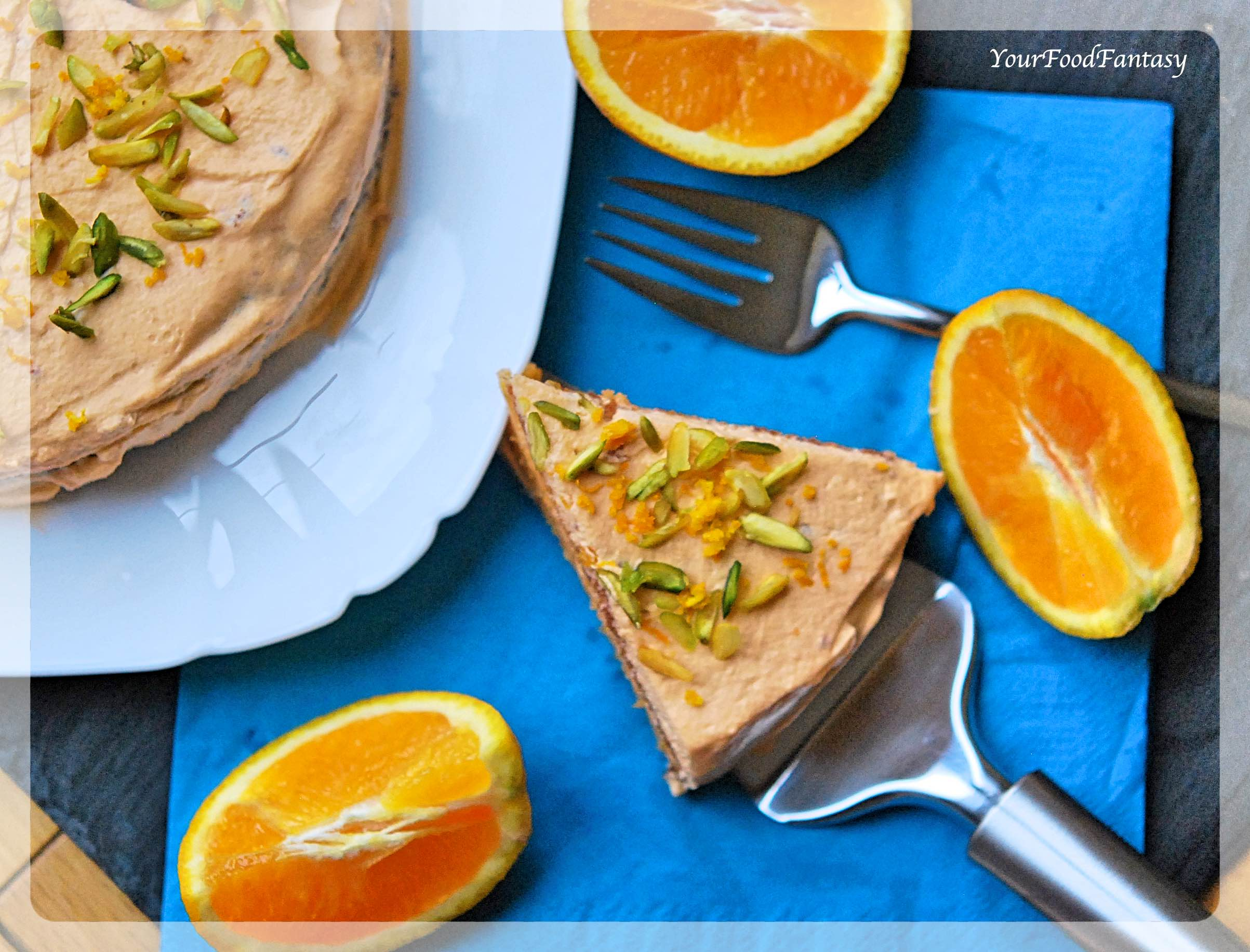 Homemade Orange Pistachio Cake | YourFoodFantasy