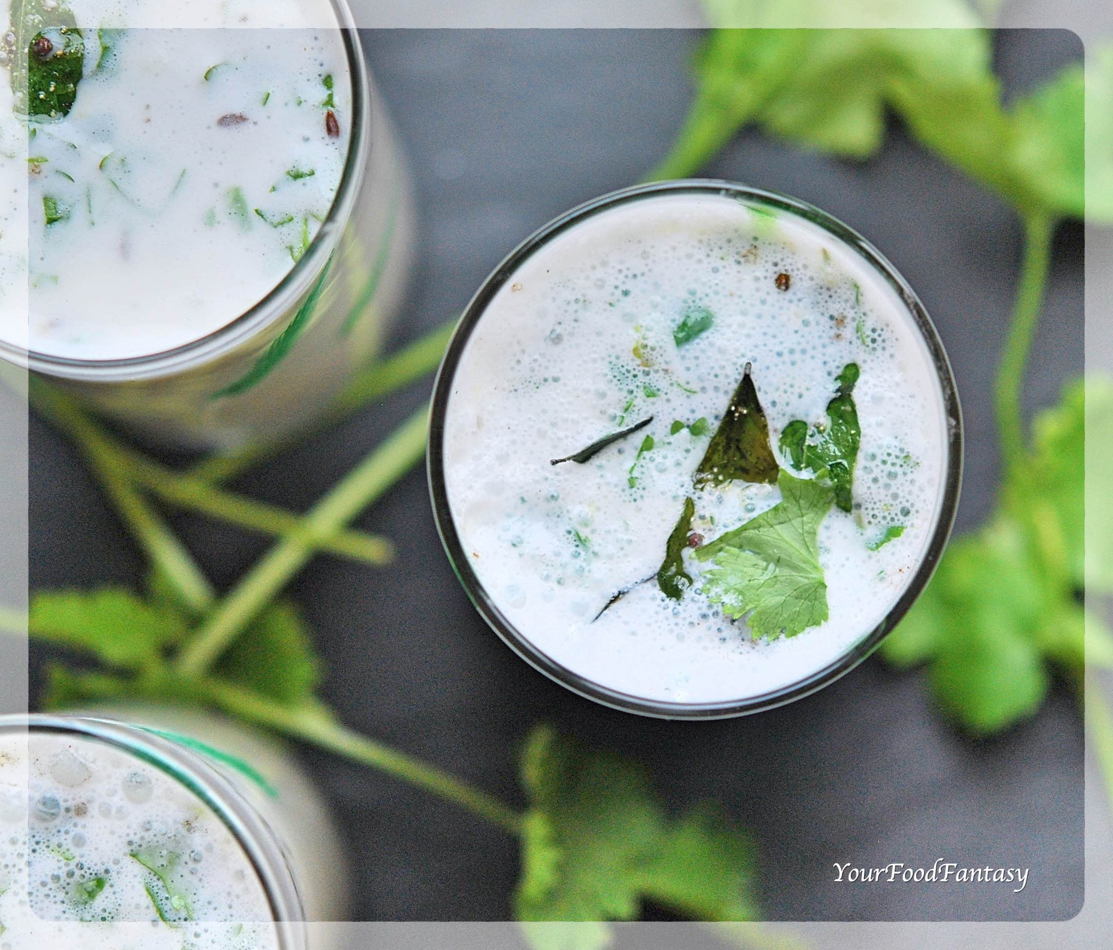 Spiced Butter Milk Recipe - Masala Chaas | Your Food Fantasy