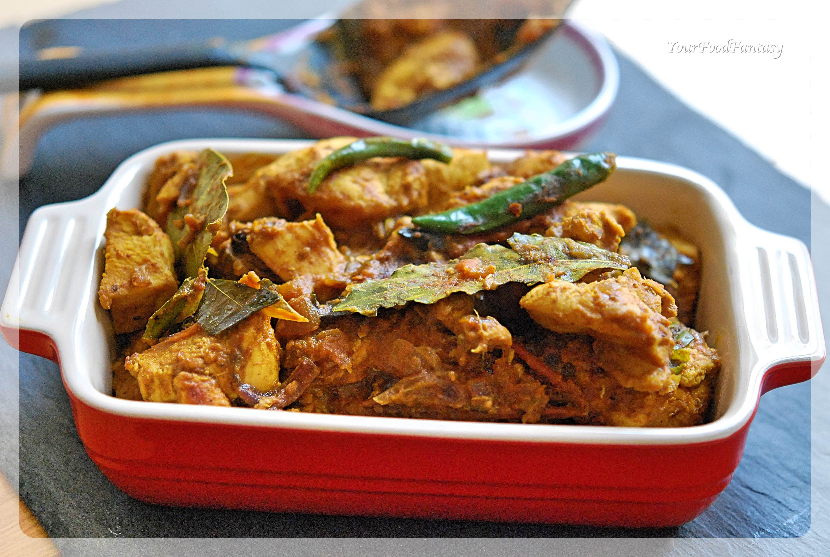 South Indian Style Dry Chicken Curry   Your Food Fantasy