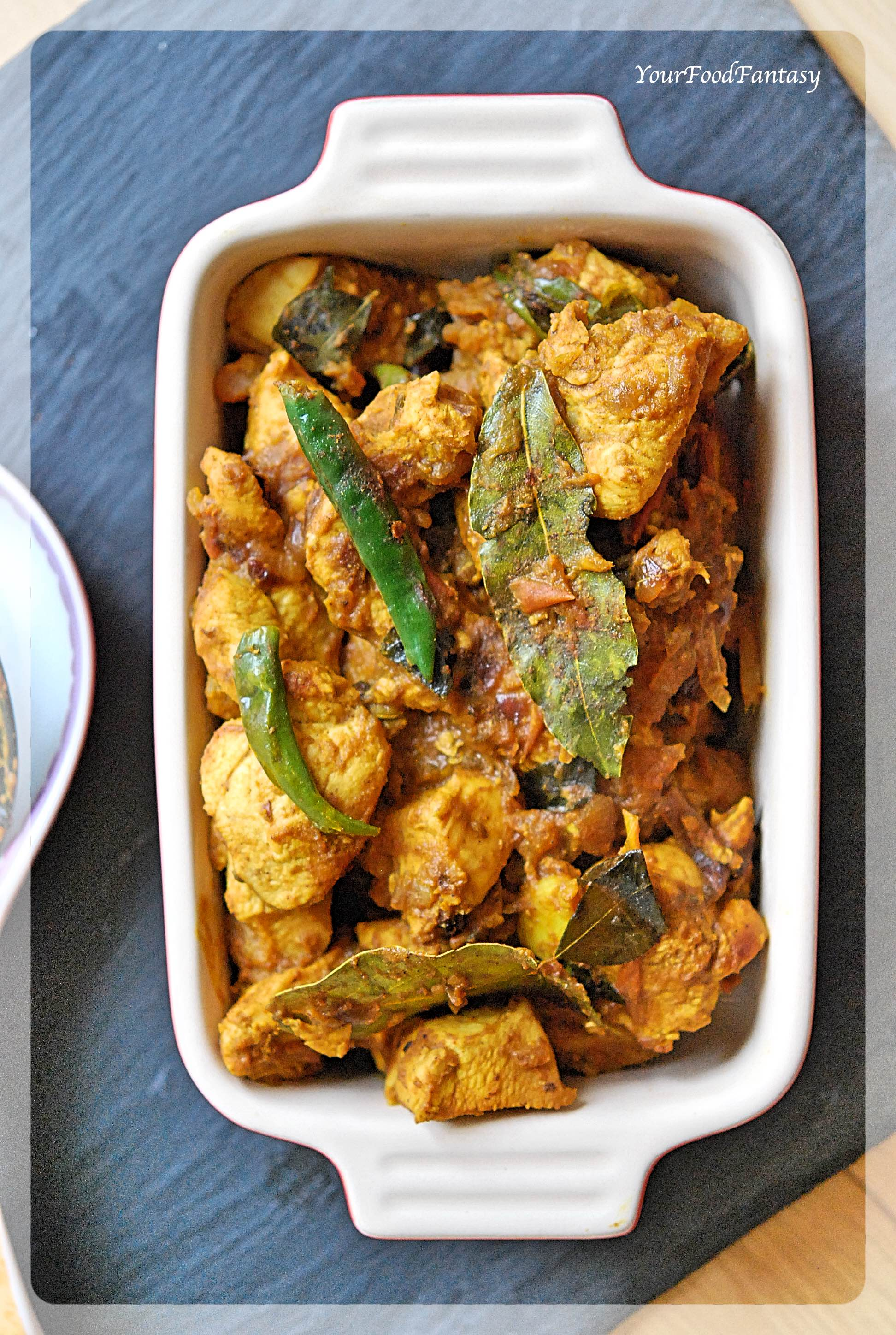 South Indian Style Dry Chicken   YourFoodFantasy.com