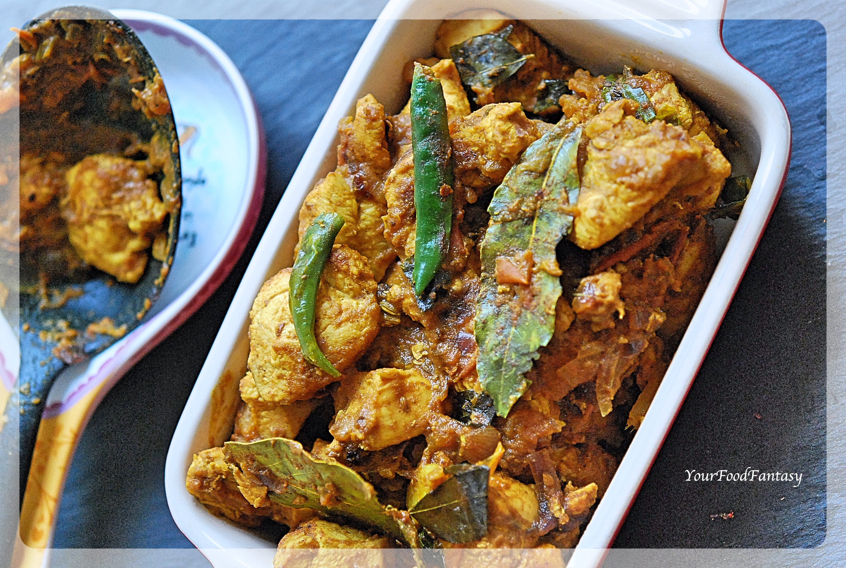 South Indian Style Dry Chicken