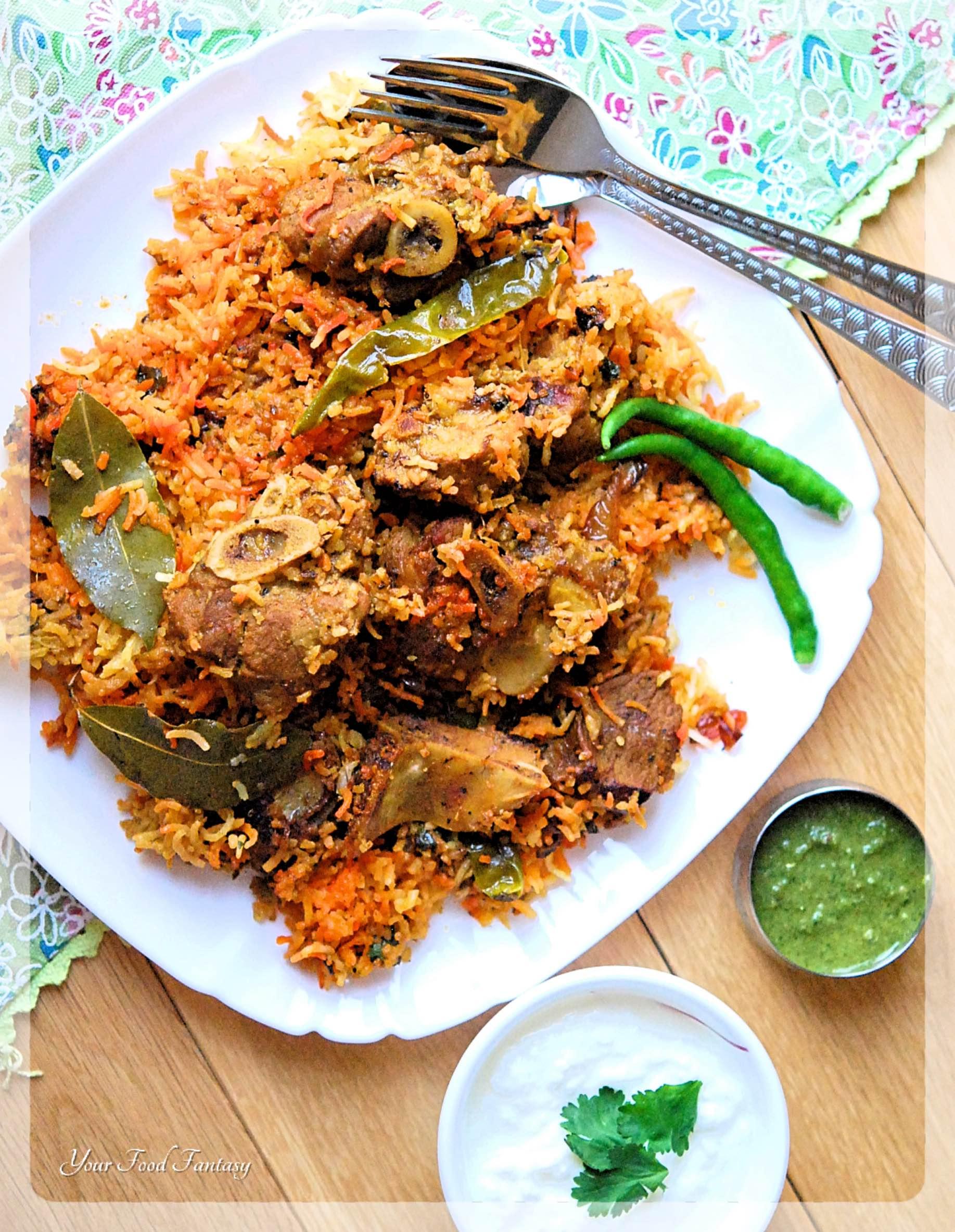 Authentic Mutton Biryani Recipe | Your Food Fantasy