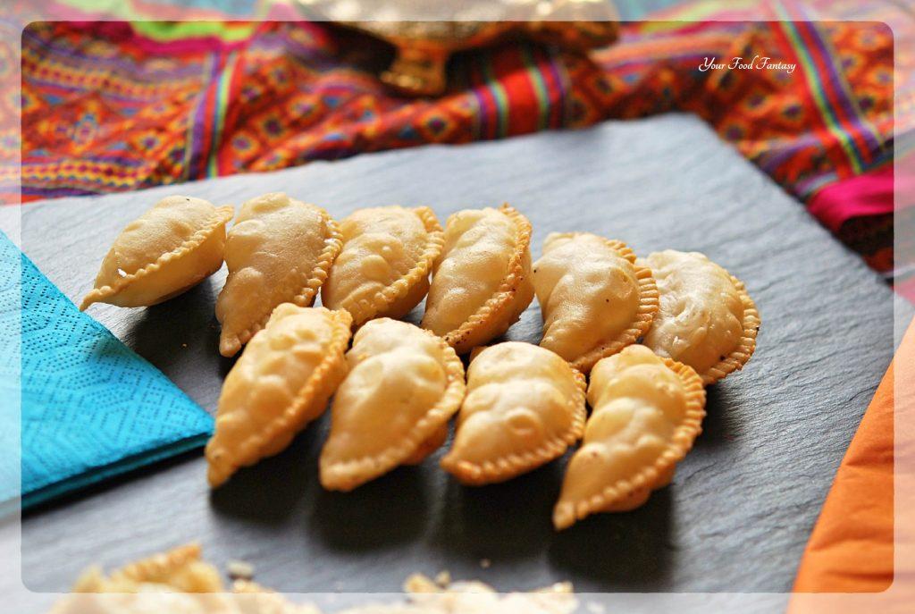 Gujiya Recipe - Khoya Gujiya | YourFoodFantasy.com