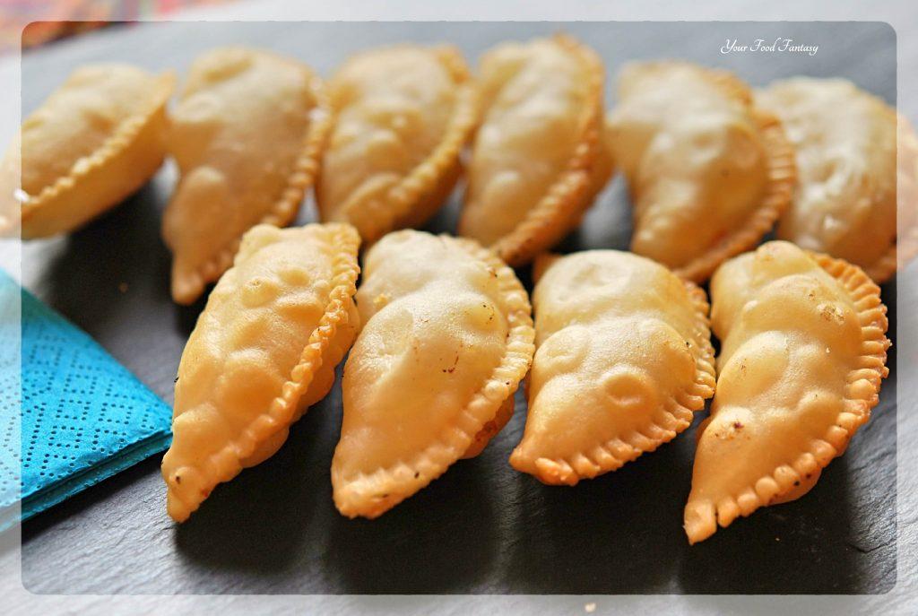 Home made Gujiya Recipe - Mava Gujiya | YourFoodFantasy.com