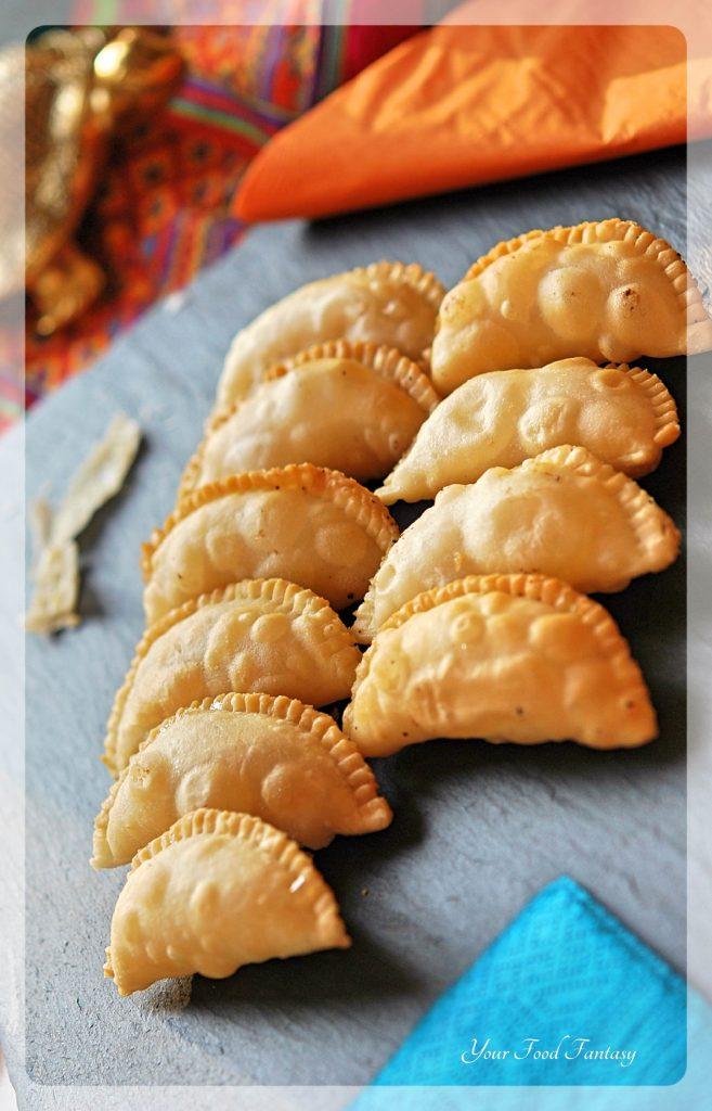Karanji Recipe - Mava Gujiya | YourFoodFantasy.com