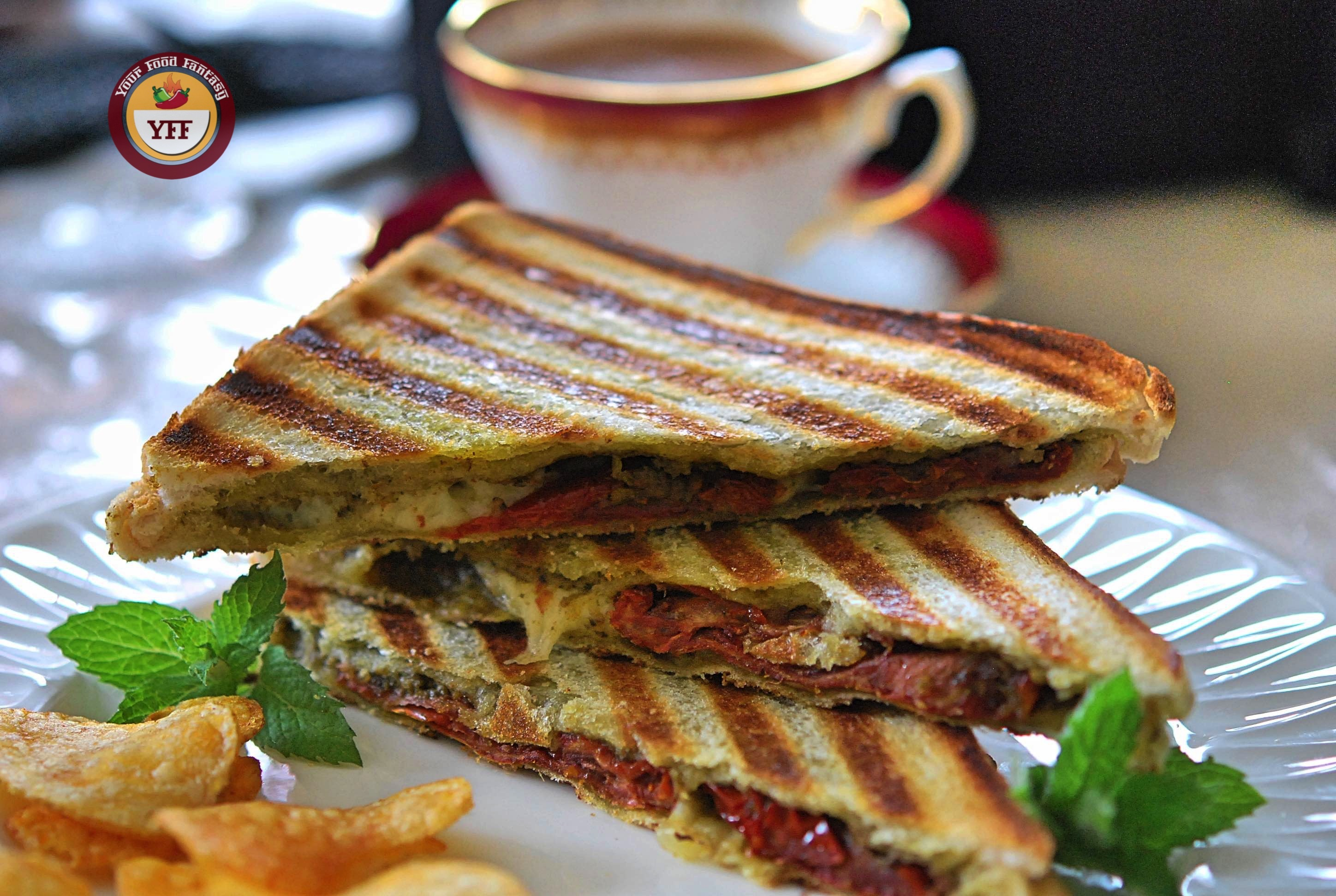 Sundried Tomatoes and Mozzarella Grilled Sandwich   Your Food Fantasy