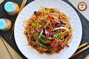 Vegetable Hakka Noodles Recipe   Indo Chinese Cuisine