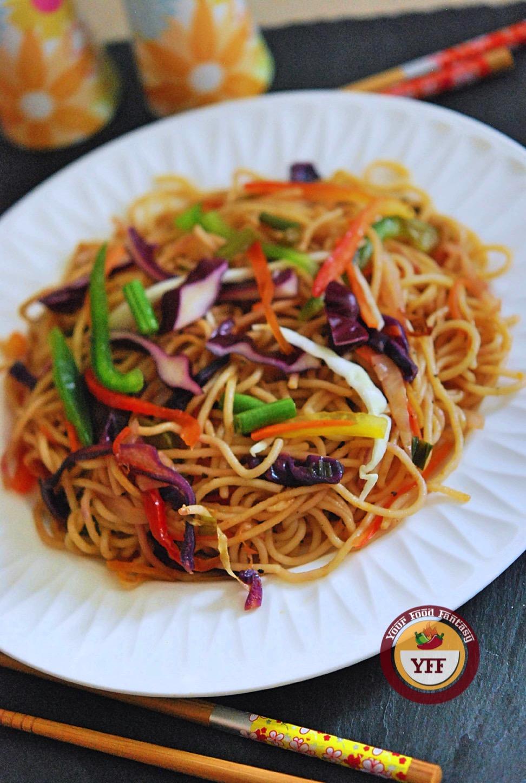 Vegetable Hakka Noodles Recipe | YourFoodFantasy.com