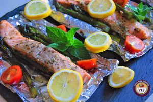 Asparagus Salmon Foil Bake | YourFoodFantasy.com