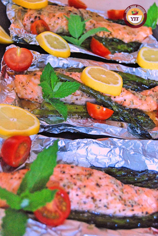 One Pot Asparagus Salmon Foil Bake | Your Food Fantasy
