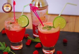 Raspberry Mojito Mocktail | YourFoodFantasy.com