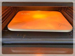 Baking Paneer Tikka Parcel using a Baking Stone