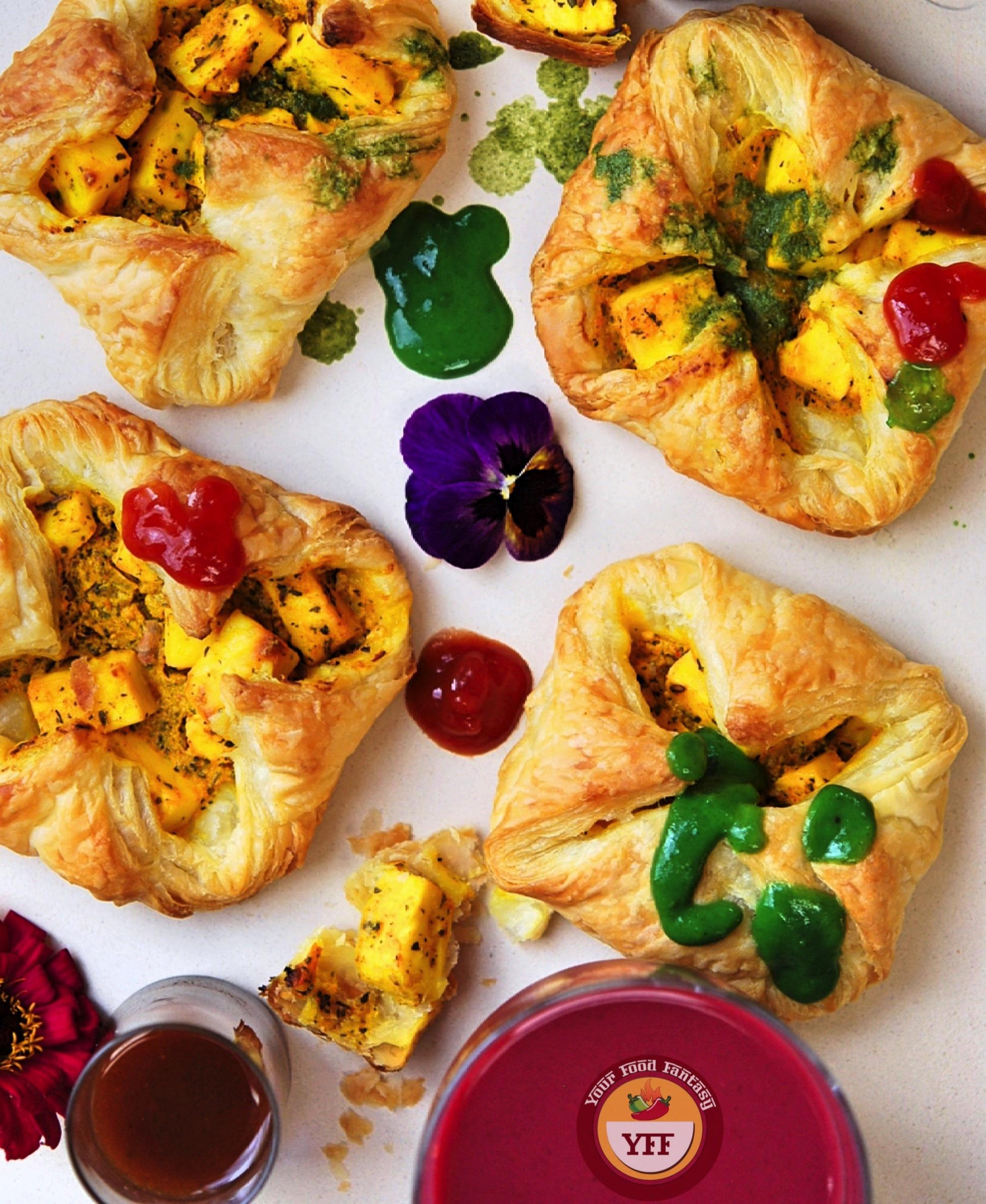 Paneer Tikka Pockets   Paneer Tikka Parcels   Paneer Recipes - Your Food Fantasy