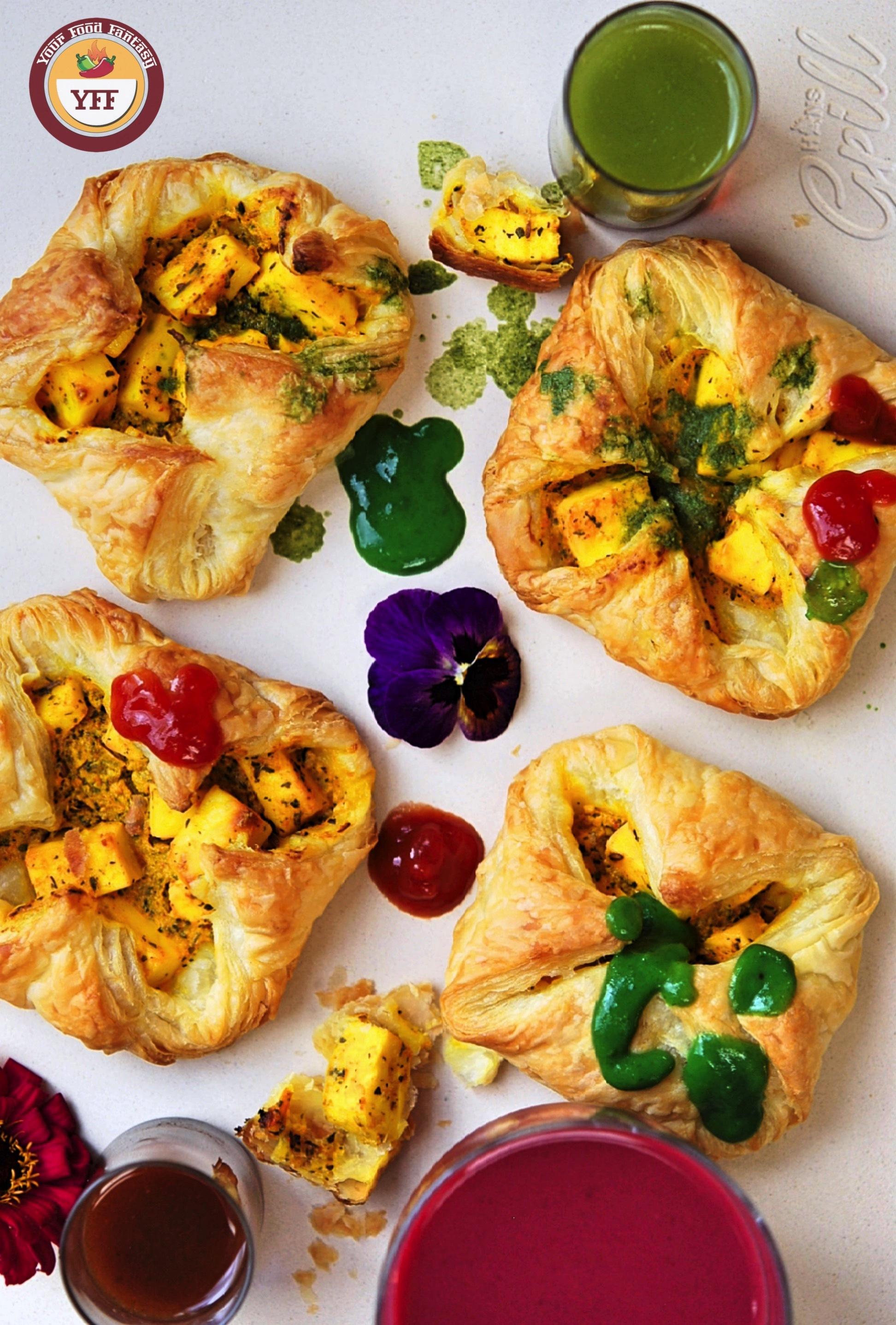 Paneer Tikka Pockets - Paneer Tikka Parcels   Paneer Recipes - YourFoodFantasy.com