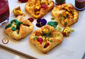 Paneer Tikka Puff Pockets Recipe   Paneer Tikka Parcels   Your Food Fantasy
