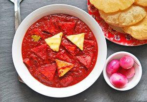 Beetroot Paneer Curry   Paneer Recipes   YourFoodFantasy.com