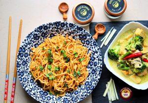 Tandoori Noodles Recipe and Green Thai Curry Recipe   Your Food Fantasy