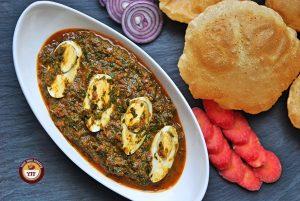 Special Spinach Egg Curry Recipe   YourFoodFantasy.com