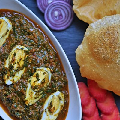 Spinach Egg Curry Recipe   YourFoodFantasy.com