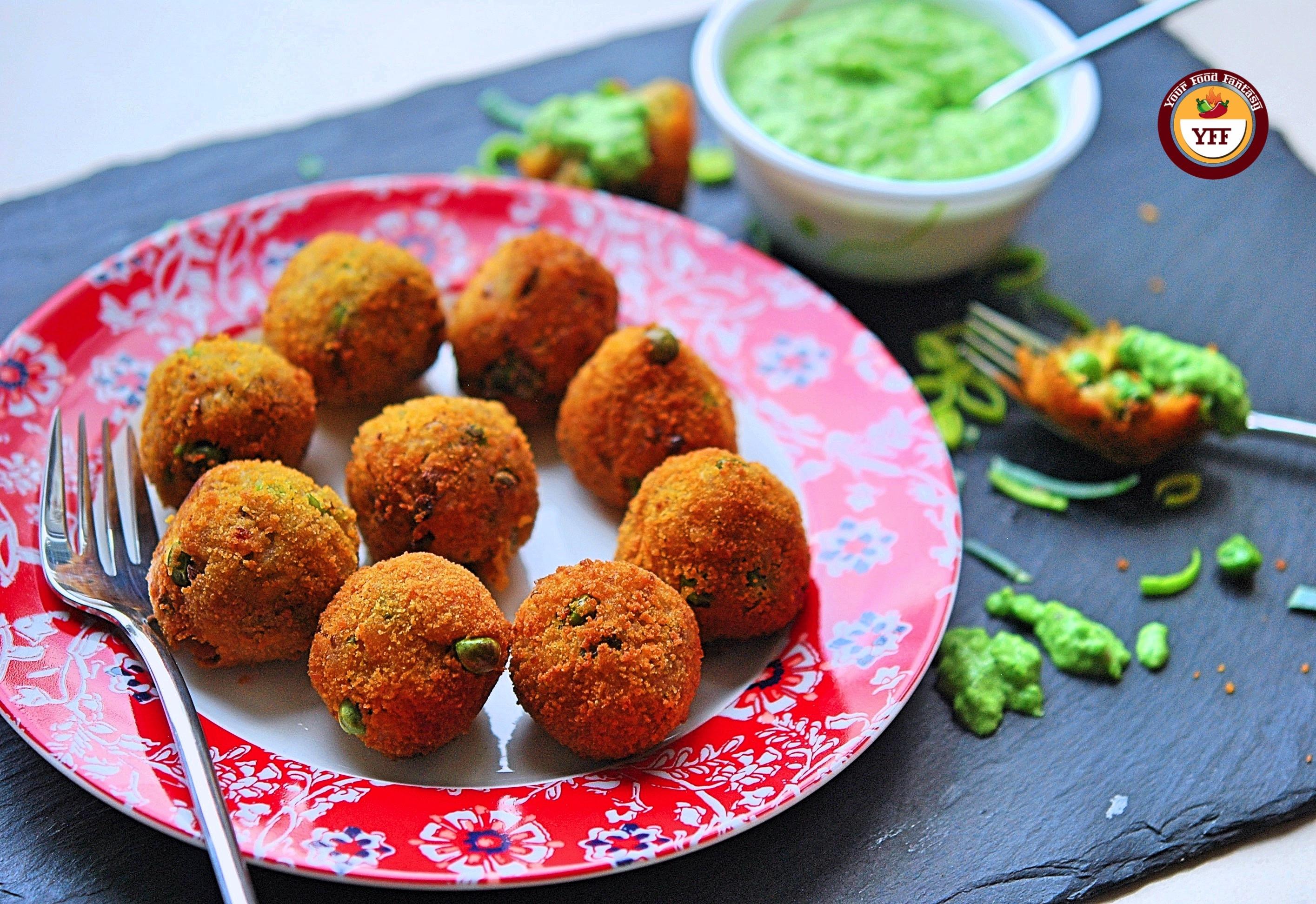 Vegan Leek and Pea Aranchini   Easy Leek Recipe   YourFoodFantasy.com