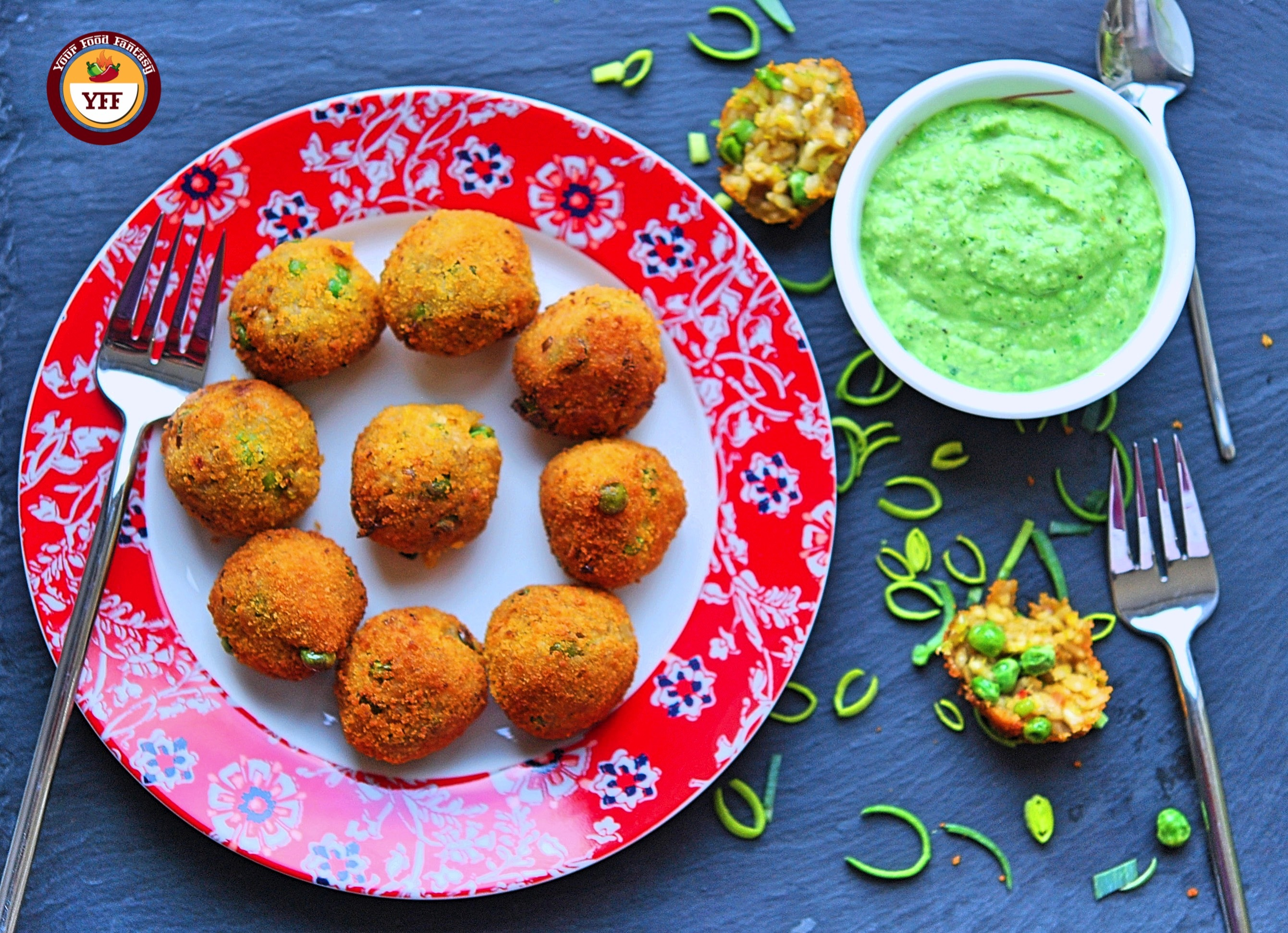 Vegan Leek and Pea Aranchini   Leek Recipes   Your Food Fantasy