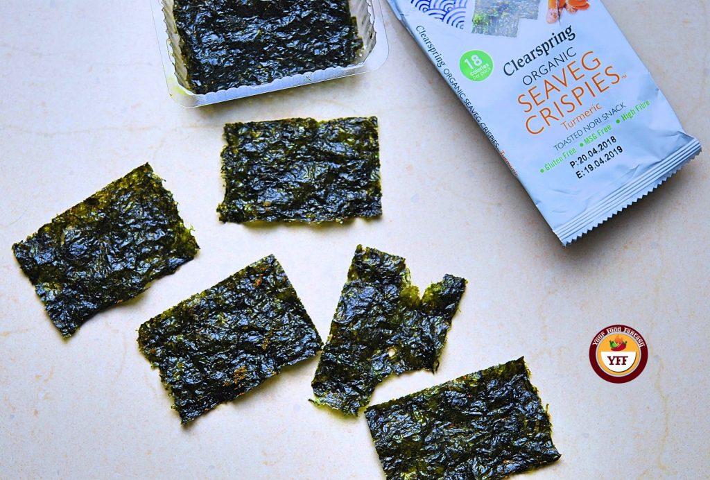 Clearspring Organic Seaveg Crispies reveiw   Your Food Fantasy