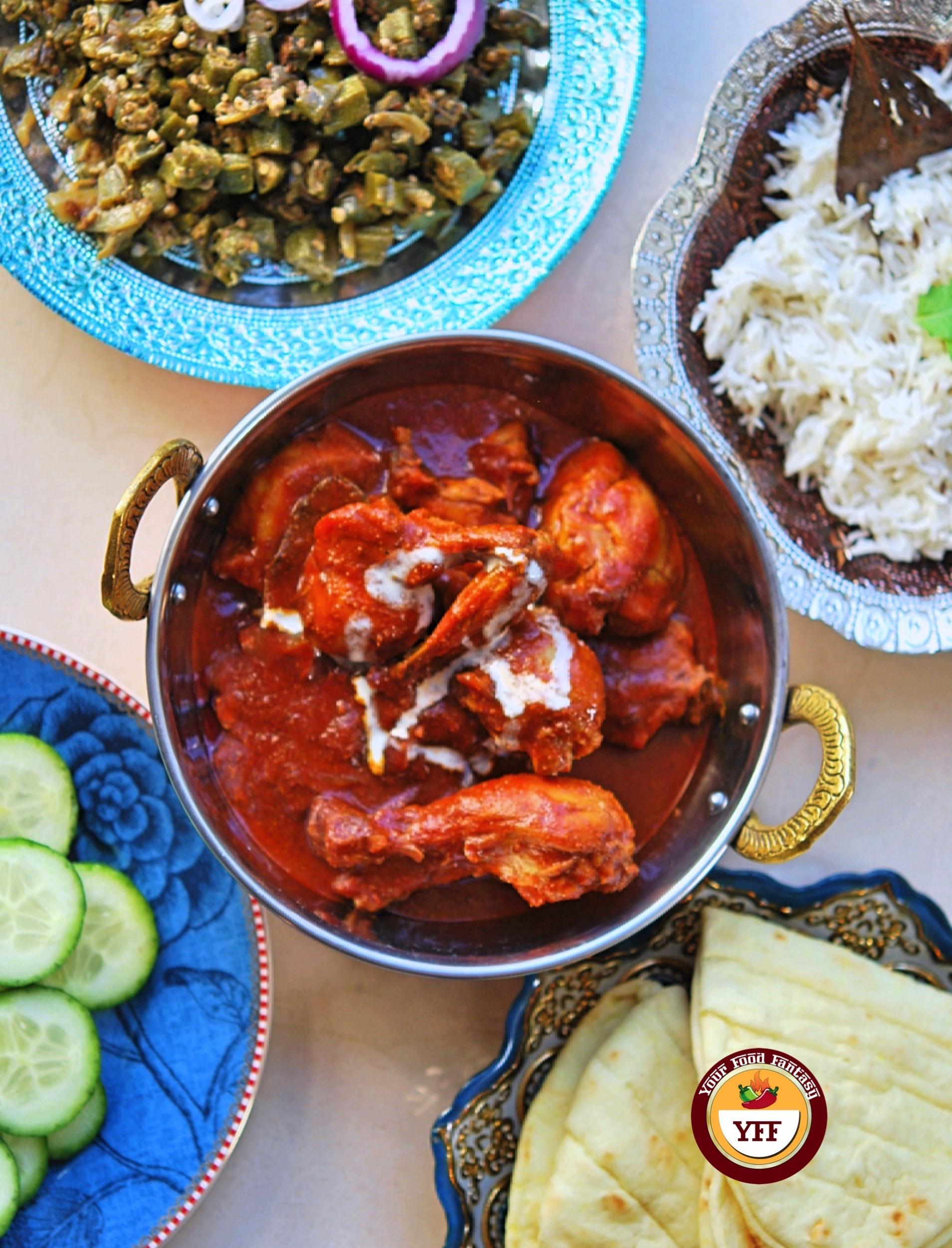 Ghee Roast Tandoori Chicken   Chicken Recipes   YourFoodFantasy.com