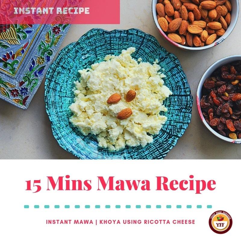 Instant Mava - Khoya recipe using Ricotta Cheese  YourFoodFantasy.com