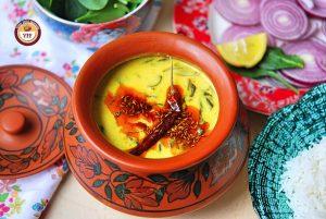 Palak Ke Kadhi - Your Food Fantasy