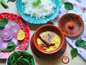 Spinach Recipes -Palak Kadhi Recipe | Your Food Fantasy