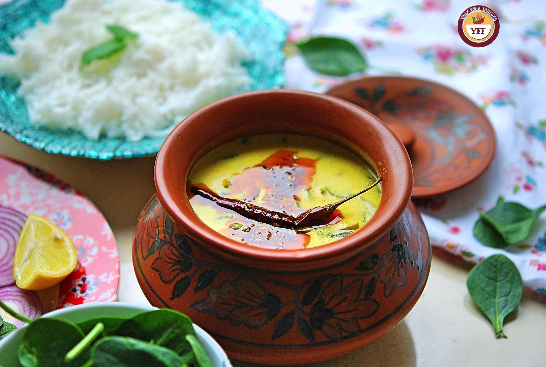 Spinach Recipes   Palak Kadhi Recipe   Your Food Fantasy