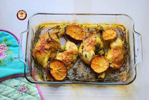 Ovenbaked Rosemary and Thyme Chicken legs | Chicken Recipes | YourFoodFantasy.com