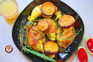 Rosemary and Thyme Chicken legs | Easy Chicken Recipes | YourFoodFantasy.com