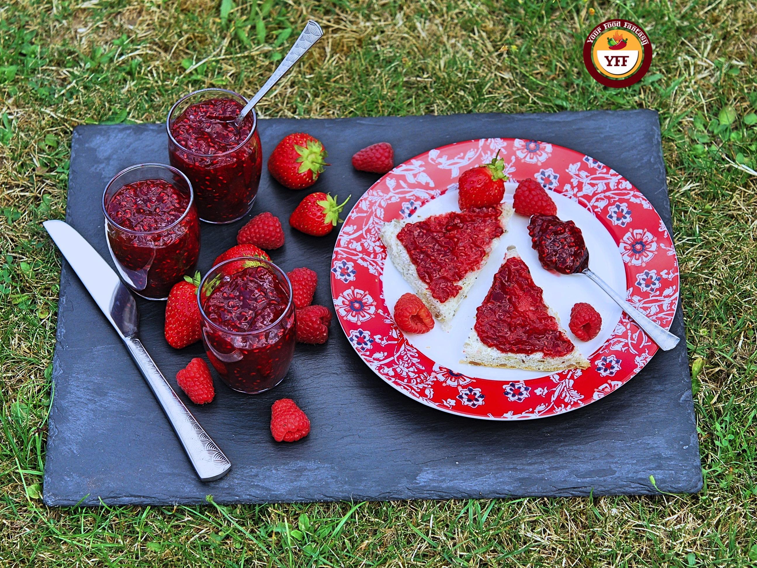 Strawberry and Raspberry Jam Recipe by YourFoodFantasy.com