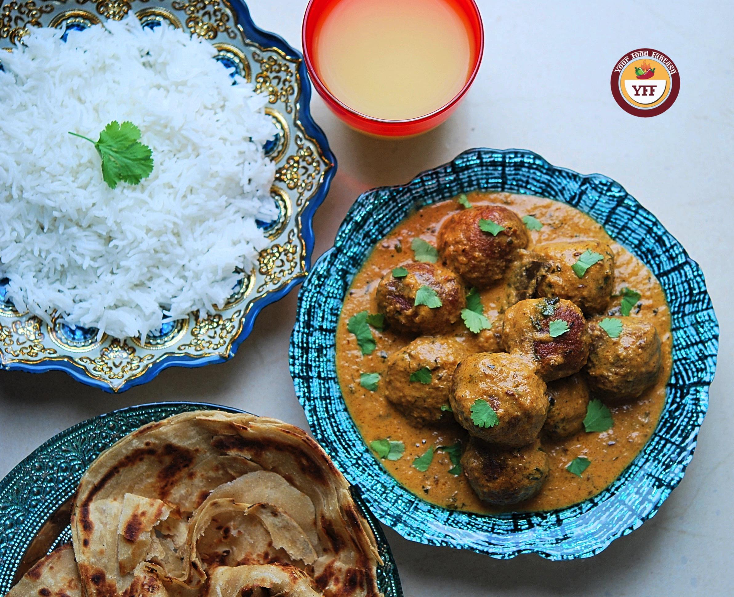 Cabbage Kofta Curry Recipe - YourFoodFantasy.com