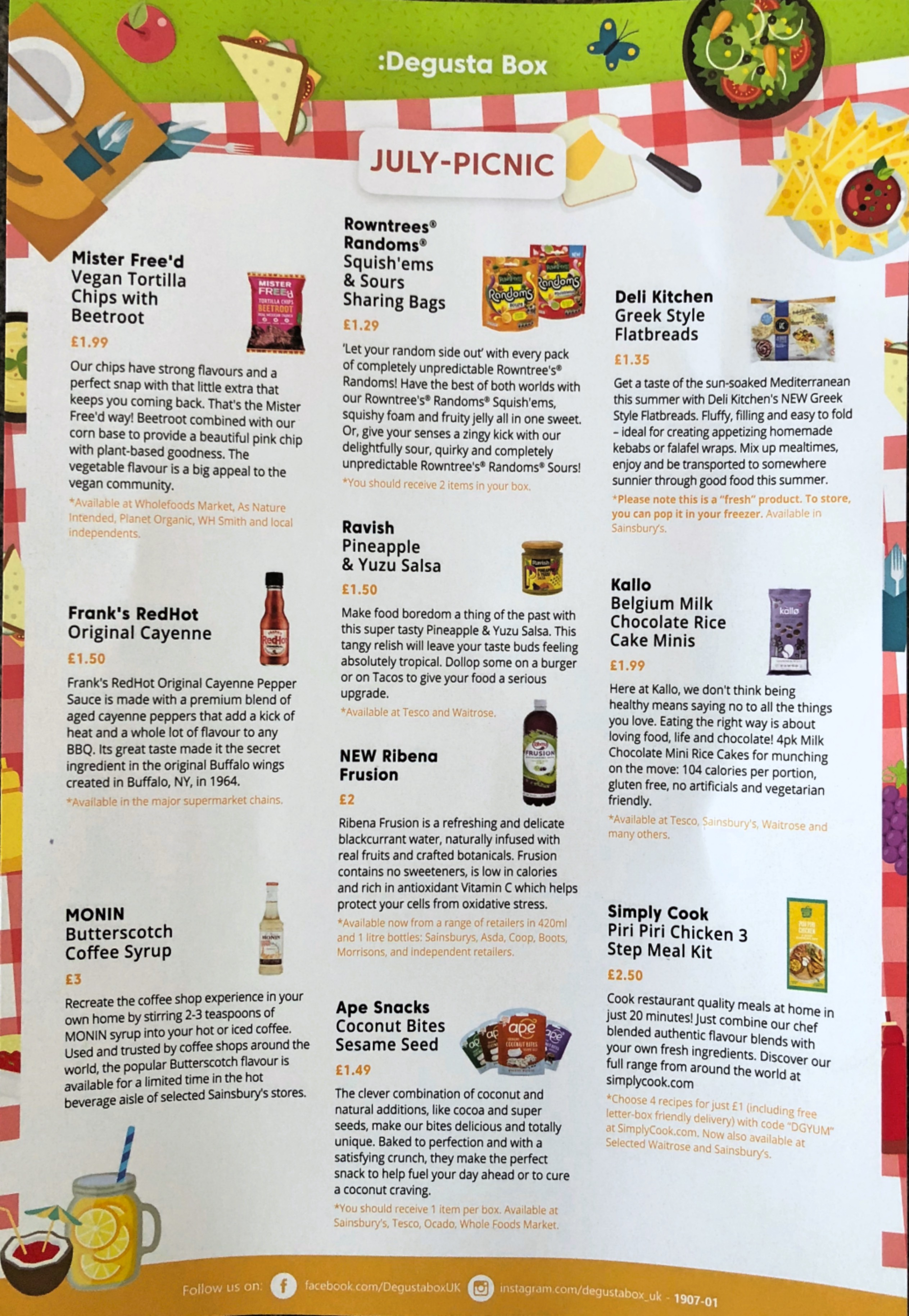 Degustabox July Review - YourFoodFantasy.com