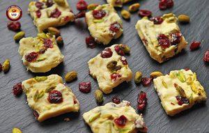 Cranberry Chocolate Fudge Recipe | Your Food Fantasy