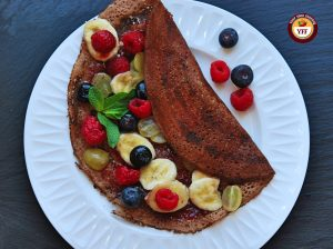 Fruit based Chocolate Dosa-Crepes | Your Food Fantasy