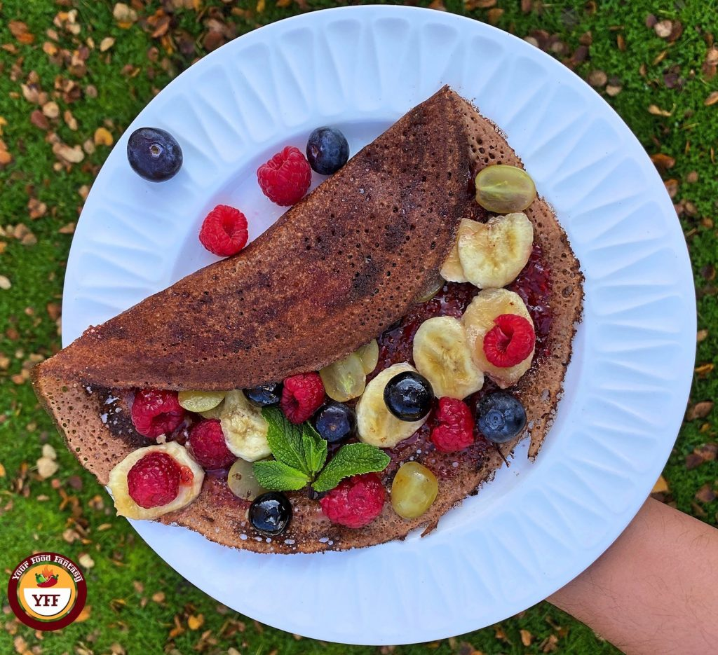 Fruity Chocolate Dosa-Crepes Recipe | Your Food Fantasy